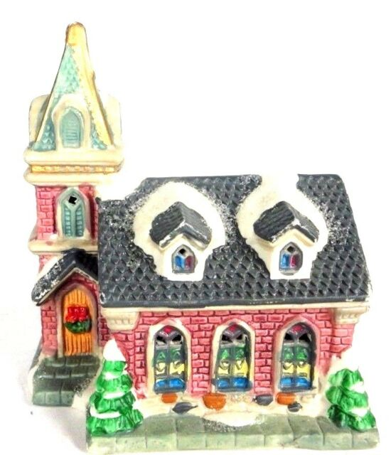 church cobblestone corners windham heights christmas village decorative 2004