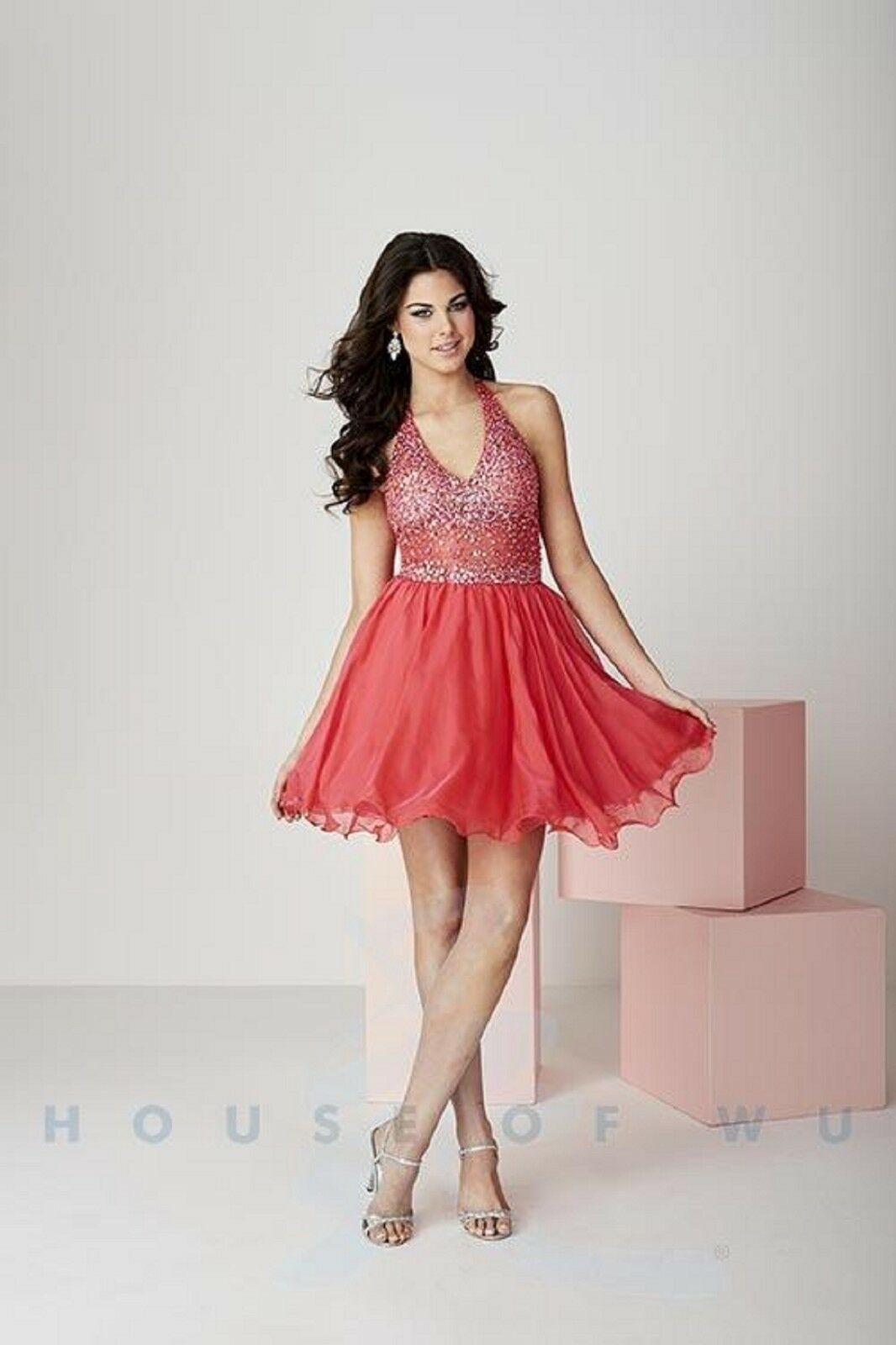 0909fea7cbf NWT Jeweled and beaded Size 8 Pomegranate short formal dress RED homecoming  ogjswq24270-Dresses