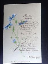 Ancien menu 1902