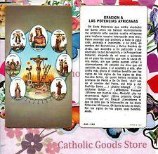 Oracion A Las Potencias Africanas  - Spanish - Paperstock Holy Card