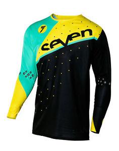 SEVEN 7- ZERO jersey OMNI blk yel LARGE 2250001009-L 190490002032  6fc656547