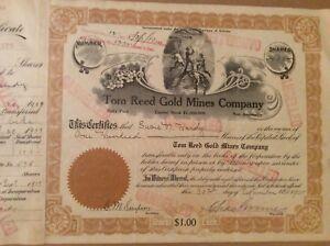 Territory-of-Arizona-Mining-Stock-Certificate-Tom-Reed-Gold-Mines-1909
