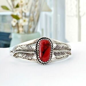 Taxco-Mexico-Sterling-Silver-925-Stack-Layer-Modern-Jasper-Navajo-Cuff-Bracelet