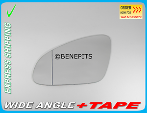 Wing Mirror Glass Aspheric For OPEL ASTRA J 2010-2015 TAPE Left Side //F034