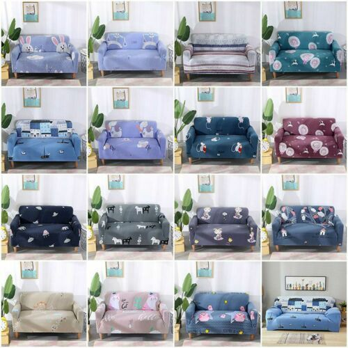 1//2//3//4 Seater Stretch Elastic Fleece Thick Sofa Cover Slipcover Couch Covers