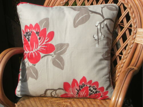 """DOUBLE SIDED /& PIPED! KIMURA BY ROMO 1 PAIR OF 18/"""" CUSHION COVERS"""