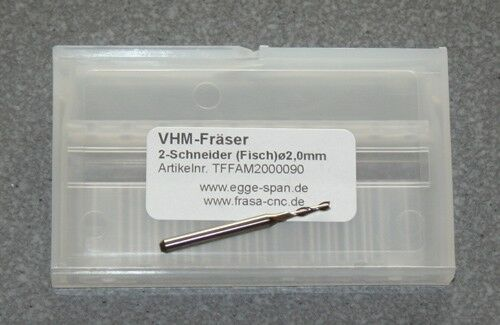 Ø 2.00mm Fisch VHM-Fräser 2-Schneider