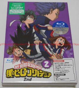 Boku-no-mi-heroe-Academia-2nd-Vol-2-Edicion-Limitada-Blu-Ray-CD-booklet-tarjeta-Japon