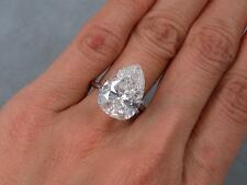 7.17 CARAT CT TW PEAR SHAPE DIAMOND SOLITAIRE RING ***GIA CERTIFIED***