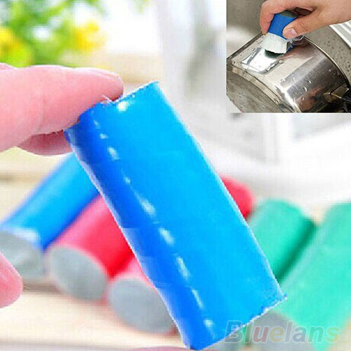 Durable Handy 2pcs Stainless Steel Rod Stick Metal Rust Remover Cleaning Brush