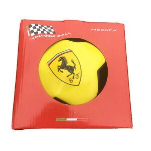 Official Scuderia Ferrari Size 5 Soccer//Futbol Ball Black Yellow Limited