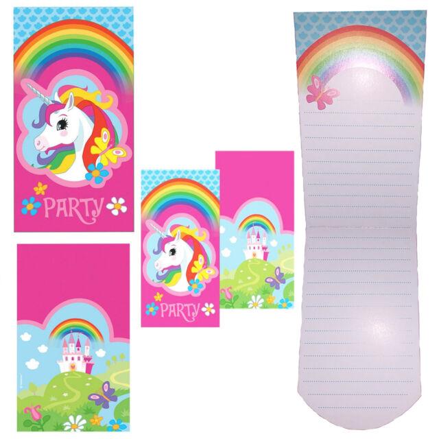 amscan 8 folding invitations unicorn invites birthday celebration ebay