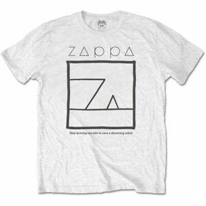 Frank-Zappa-Annegamento-Strega-Uomo-Tshirt-Unisex-Tee-con-Licenza-Ufficiale-Band
