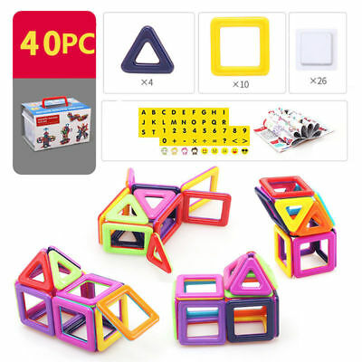 40-166pcs  Kids Magnetic Blocks Building Toys For Magnet Tiles Kits xms Gifts