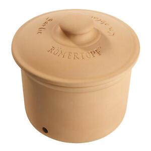 Roemertopf-Vorratstopf-Knoblauch-Knoblauchtopf-Vorratsdose-fuer-ca-200-g-Naturton