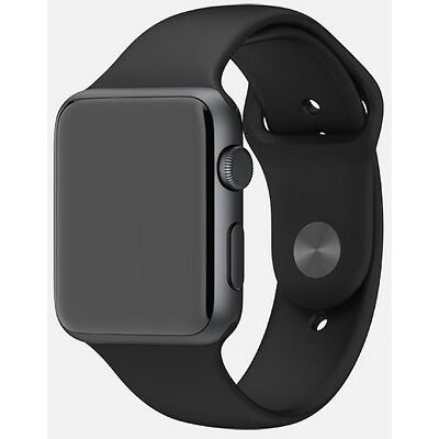 APPLE WATCH SPORT 38MM SPACE GREY ALUMINIUM CASE & BLACK SPORTS BAND & RECEIPT