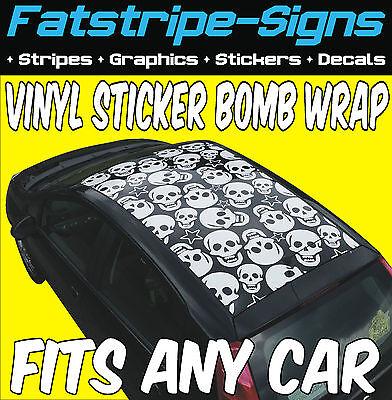 Bmw M3 M5 M6 Cab Vinyl Sticker Bomb Roof Wrap Car Graphics