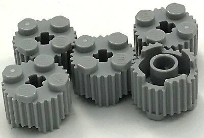 10 x NEW LEGO PART 92947 BLACK 2 x 2 ROUND BRICK WITH FLUTES /& AXLE HOLE