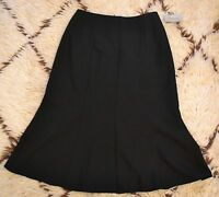 Ingenuity Womens Black Flare Bottom Mid Calf Length Skirt Stretch Size 4
