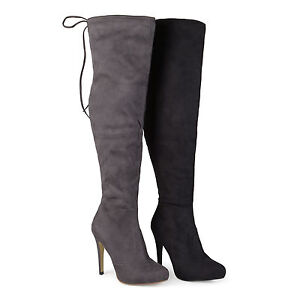 bd7b12ec727 Image is loading Brinley-Co-Womens-Wide-Calf-High-Heel-Over-