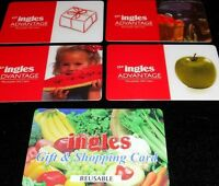 5 Collectible Gift Card INGLES Grocery Store Food Different Lot No Value  2010