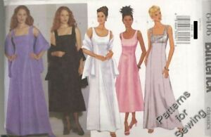 PATTERN Butterick Sewing Woman Dress 3 Styles Evening Prom Size 12-16 NEW