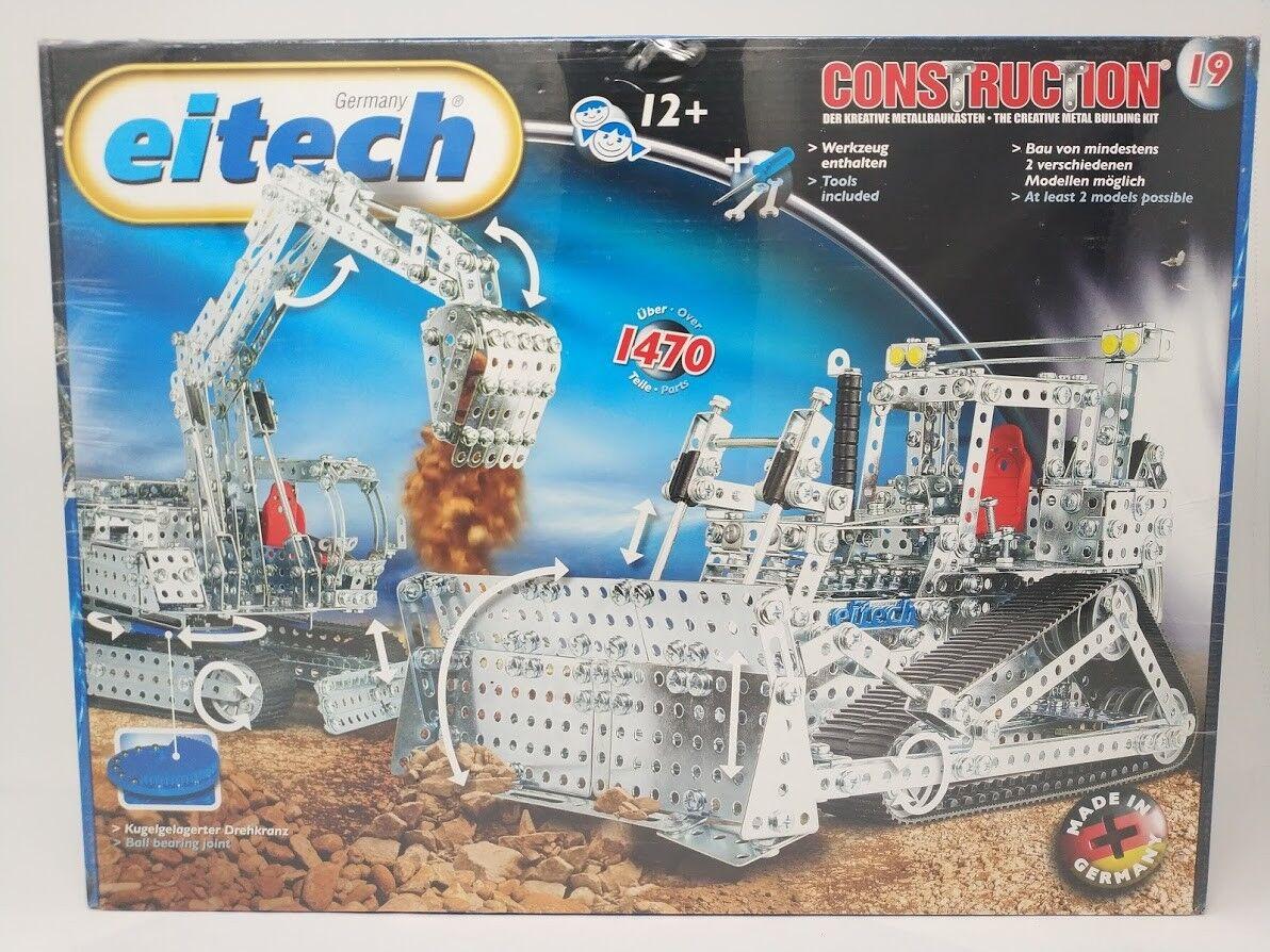 Eitech 1470 juguete de construcción excavadora Excavadora Set C19 alemán hizo  Metal Pesado