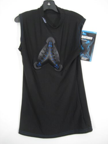 New XO Heartshield Baseball Shirt Vest Sz Medium Black PC8 Tech 725 Series Boys