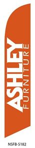 ASHLEY FURNITURE ORANGE SWOOPER FEATHER BANNER FLAG SIGN
