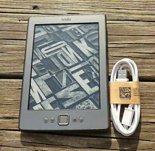 Amazon Kindle (4th/5th Generation) 2GB, WiFi, D01100, Black, eReader - W/Cord