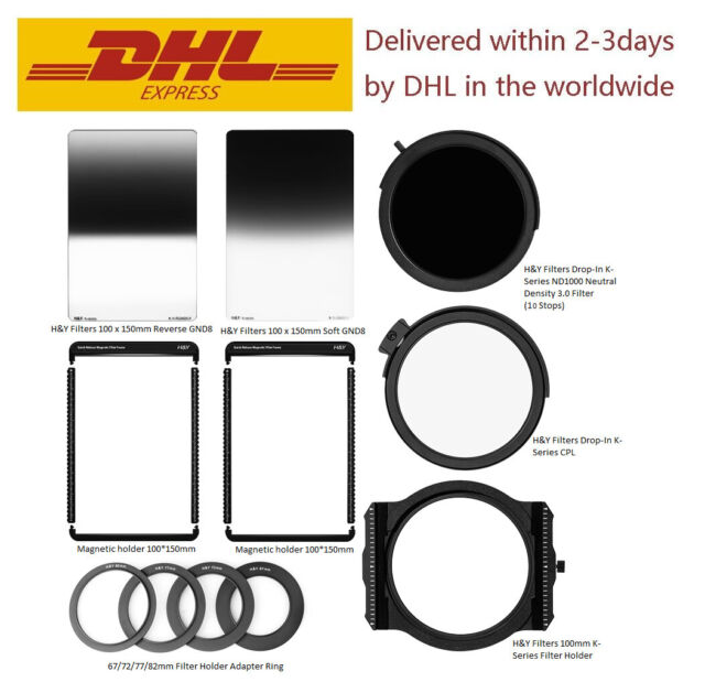 H&Y K2 100mm filter kits holder K-series+MRC CPL+ND1000+SOFT GND8+Reverse GND8