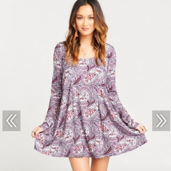 Show Me Your MuMu NWT  Sloane  Tea Time Rosa Spandy Rosa Mini Dress, Größe XSmall