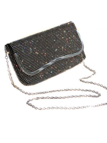 2531 Look Over Designer Pochette Soft Diamante Ice Silver All Nero 1 6wSqdWSR