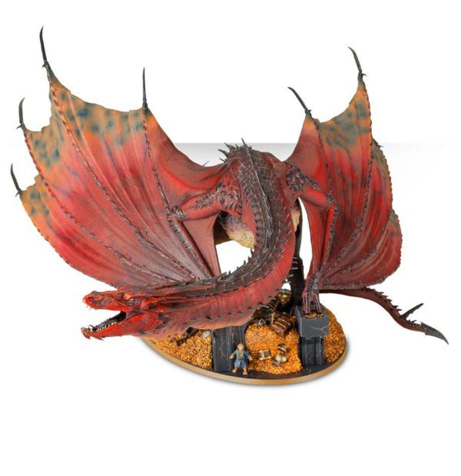 NYA Sagan om ringen Hobbit warhammer Smaug drake Figur 3
