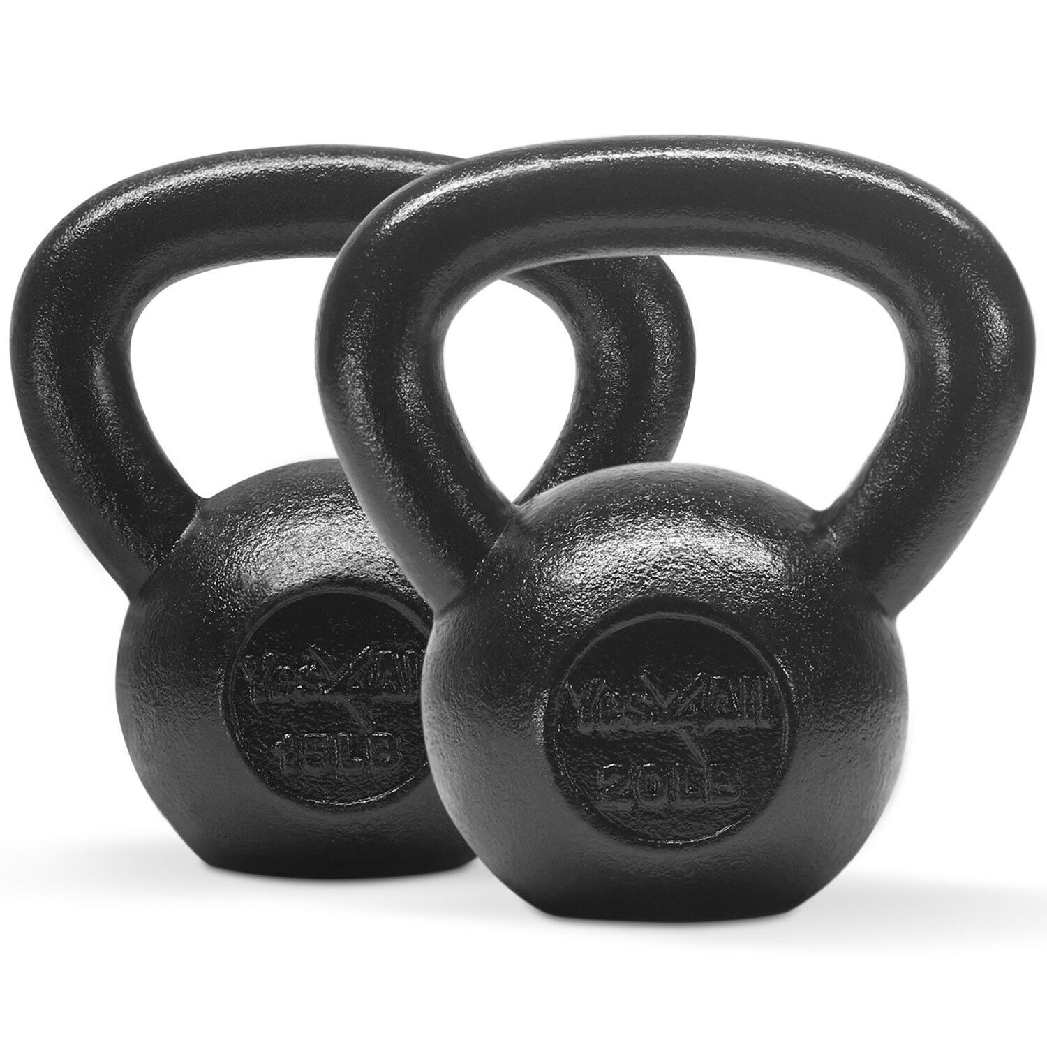 Yes4All Kettlebell Combo Set 15 +  20 lbs - Cast Iron Kettlebell Weights  the best after-sale service