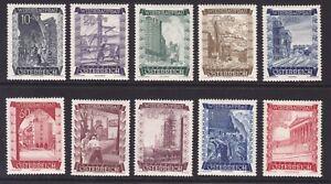 Osterreich-1948-ANK-Nr-867-876-postfrisch-Wiederaufbau