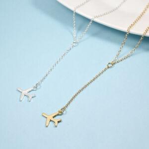 Tener cuidado de mayor descuento diseño superior Detalles de Moda Oro Plata Colgante De Avión De Aleación Cadena Ajustable  En Capas Collares
