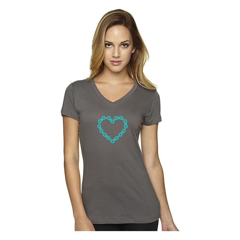 Dh Designs Designs Designs Catena Cuore Abbigliamento T-Shirt Dhd Donna Scollo a V Chainheart L 9e4148