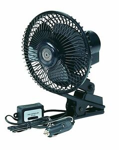 Fan vehicle rv cab truck portable cooling 12 volt oscillating cooling