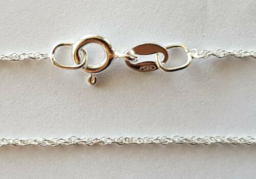 STERLING SILVER TWISTED FINE PRINCE OF WALES CHAIN VARIOUS LENGTHS 0.8mm