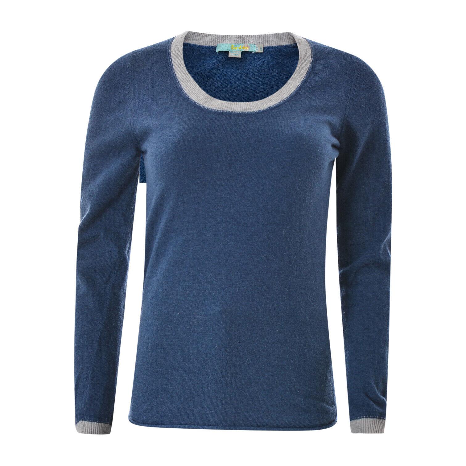 Boden Damen Pullover Strickjacke Größe UK6 Blau Langärmlig Rundhals Authentisch