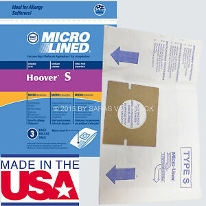 Image Is Loading 9 Hoover Type S Microlined Vacuum Cleaner Bags