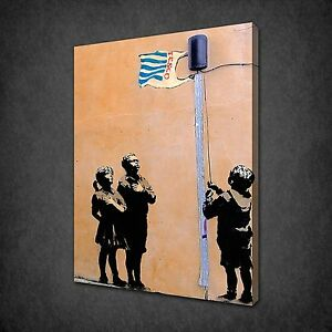 Image Is Loading BANKSY TESCO CANVAS WALL ART PICTURES PRINTS VARIETY