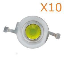 1W LED Diode Lamp Beads 1 Watt High power Cool White Super Bright (10 Pieces)