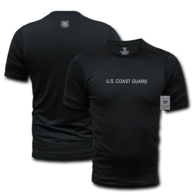 Black US Coast Guard USCG Muscle Workout Training T-Shirt T-Shirts Shirt Shirts