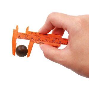 2x Mini 80mm Vernier Caliper Gauge Plastic Ruler Pocket Measure Measurement Tool