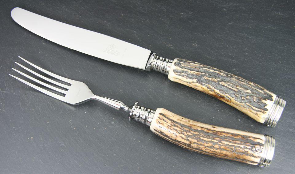 HUBERTUS CLASSIC vaisselle KNIFE & FORK Stag  Nouveau