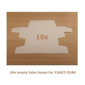10x Empty boxes for 12AX7/EL84, Scatola bianca per valvole tipo 12AX7/EL84