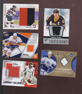 5-ASSORTED-GAME-USED-JERSEYS-CHARA-OKPOSO-OTHERS-NRMT-SHAPE