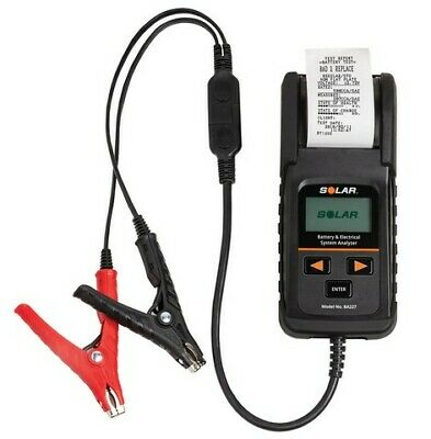 12 Volt Digital Battery And System Tester With Integrated Printer Sol-ba227 New!
